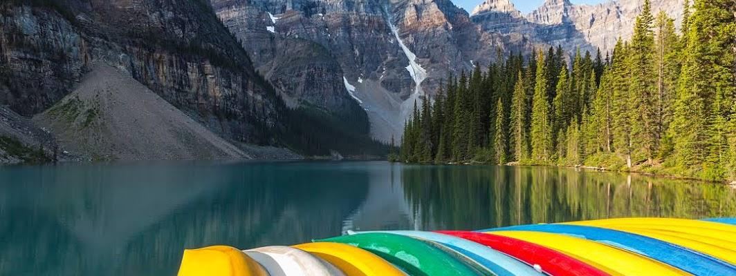 Banff Town in Alberta, Canada