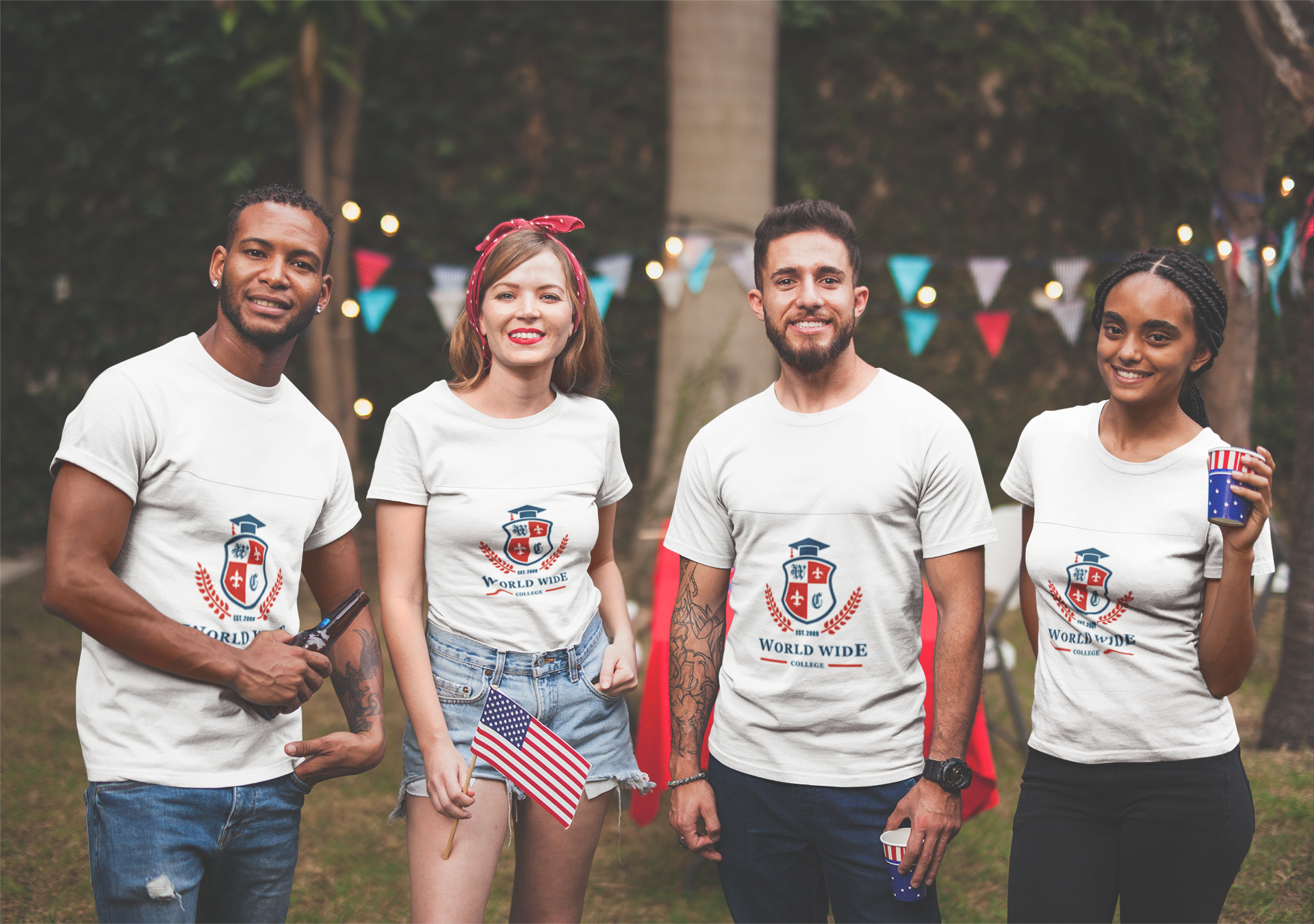 interracial-group-of-four-friends-wearing-tshirts-mockup-at-a-bbq-party-a20837.png